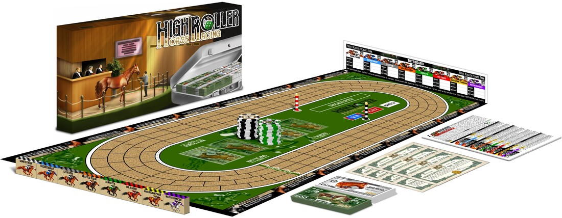 High Roller Horse Racing The Board Game
